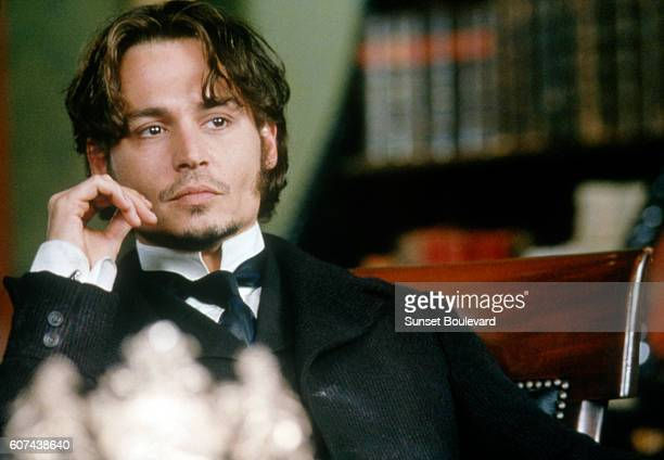 American actor Johnny Depp on the set of From Hell based on the novel by Alan Moore and Eddie Campbell and directed by The Hughes Brothers
