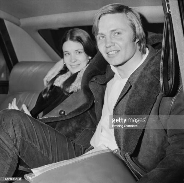 American actor Jon Voight and American producer screenwriter and actress Jennifer Salt sitting in the backseat of a car UK 7th March 1970