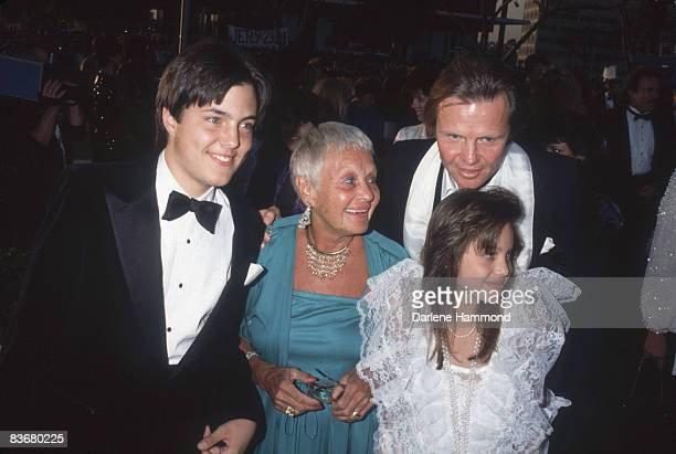 American actor Jon Voight attends the Academy Awards with his son James Haven Voight mother Barbara Voight and daughter Angelina Jolie Voight at the...