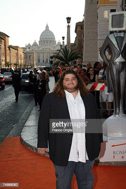 American actor Jorge Garcia of the television series Lost arrives at the Auditorium della Conciliazione for the opening day of the RomaFictionFest...