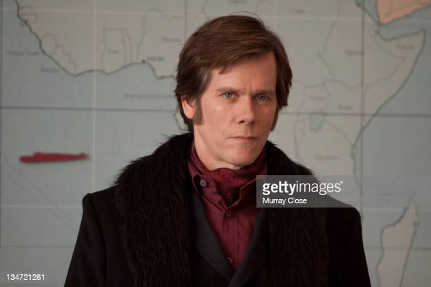 American actor Kevin Bacon as Sebastian Shaw in a scene from the film 'X-Men: First Class', 2011.