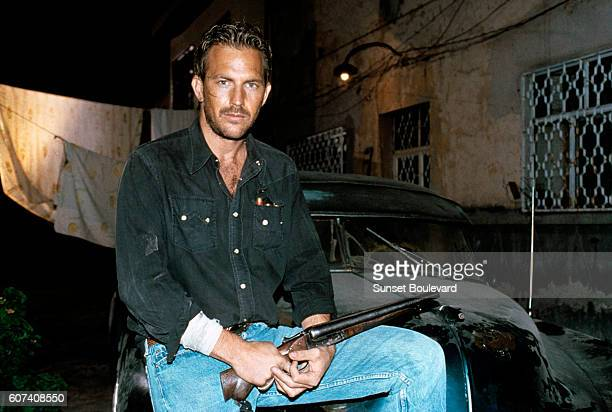 American actor Kevin Costner on the set of Revenge directed by Tony Scott