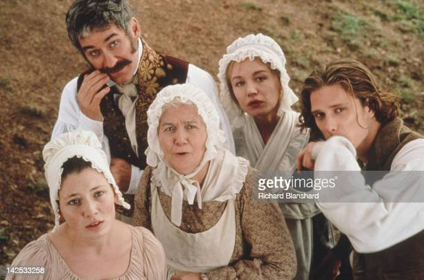 American actor Kevin Kline stars with Arkie Whiteley Kate Ashfield Barbara Keogh and Jamie Harris in the film 'Princess Caraboo' 1994