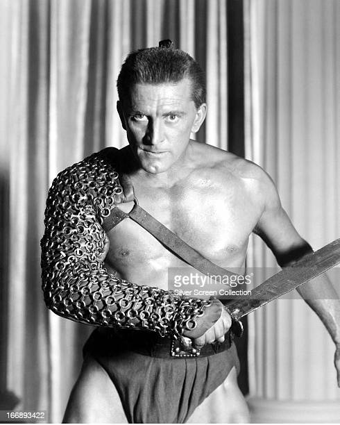 American actor Kirk Douglas in a promotional portrait for 'Spartacus' directed by Stanley Kubrick 1960