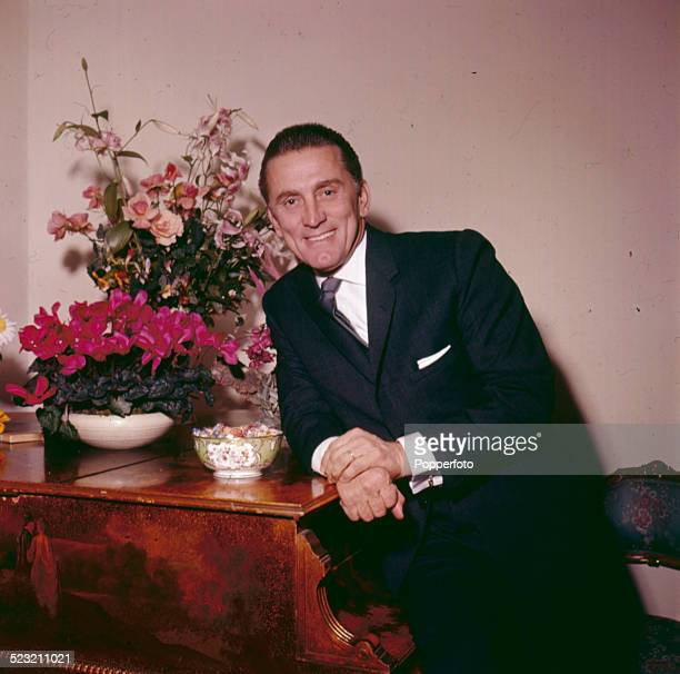 American actor Kirk Douglas posed in London in 1963
