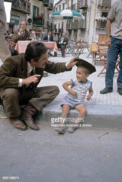 American actor Kirk Douglas on the set of The Brotherhood Italy 1968
