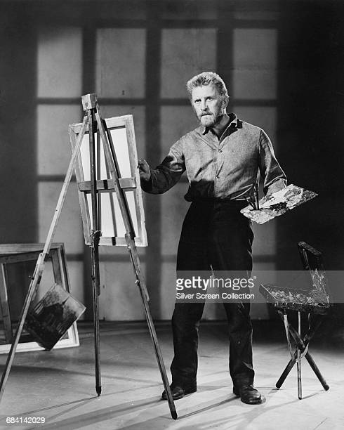 American actor Kirk Douglas plays Dutch artist Vincent van Gogh in the film 'Lust For Life' 1956