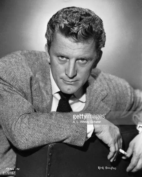 American actor Kirk Douglas, the charismatic star of 'Lust for Life', 'The Vikings' and 'Spartacus'.