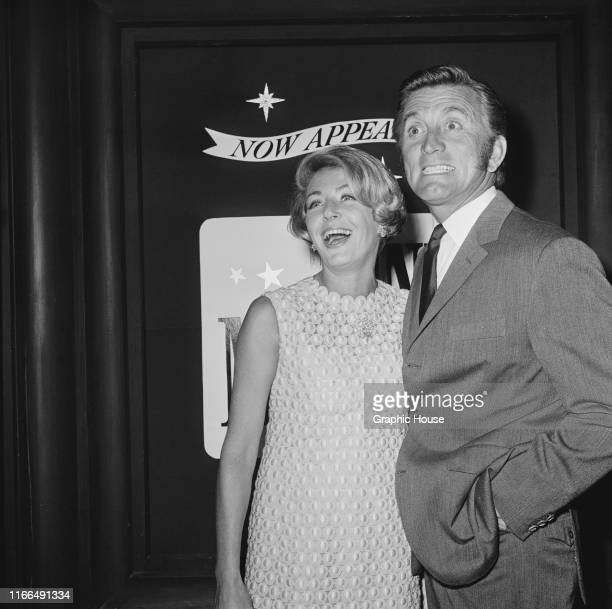 American actor Kirk Douglas with his wife Anne circa 1970