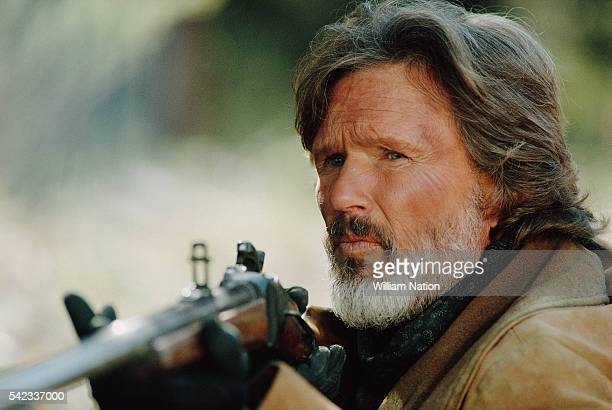 American actor Kris Kristofferson on the set of the TV movie The Tracker directed by John Guillermin