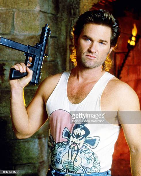 American actor Kurt Russell as Jack Burton in 'Big Trouble In Little China', directed by John Carpenter, 1986.