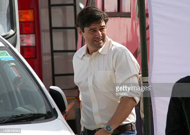 American actor Kyle Chandler walks on the set of Kathryn Bigelow's forthcoming film on Osama bin Laden, in Chandigarh on March 7, 2012. The untitled...
