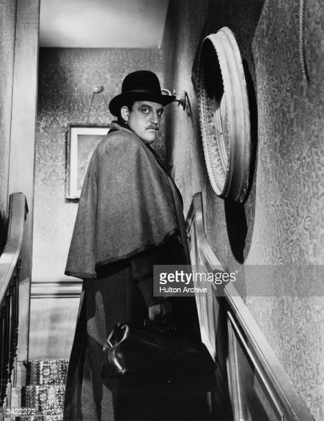 American actor Laird Cregar playing the title role in 'The Lodger' in which he is suspected of being Jack The Ripper