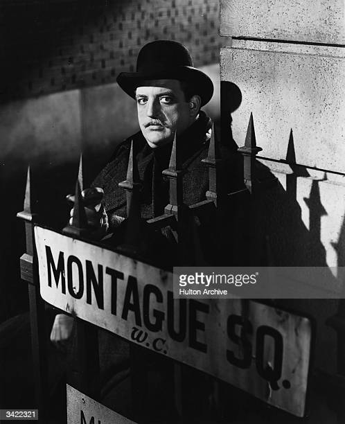 American actor Laird Cregar playing the title role in 'The Lodger' in which he is suspected of being Jack The Ripper.