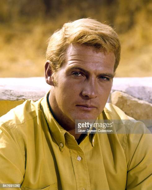 American actor Lee Majors as Heath Barkley in the American Western television series 'The Big Valley', circa 1965.