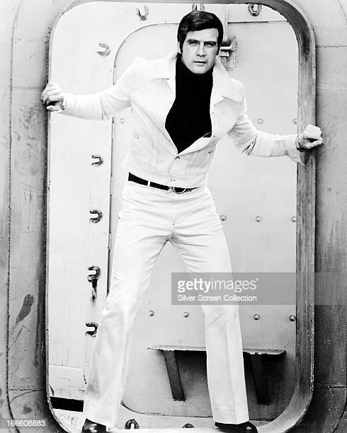 American actor Lee Majors as Steve Austin in the TV series 'The Six Million Dollar Man' 1974