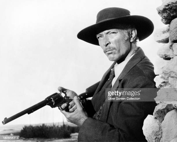 American actor Lee Van Cleef as Colonel Douglas Mortimer in 'For a Few Dollars More' directed by Sergio Leone 1965