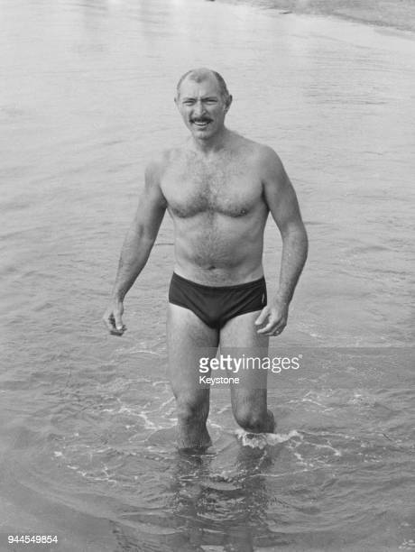 American actor Lee Van Cleef goes swimming during the 28th Venice International Film Festival Italy 1967