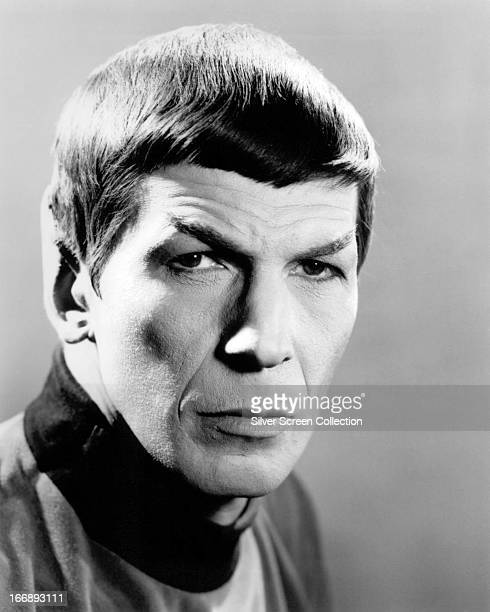 American actor Leonard Nimoy as Spock in the TV series 'Star Trek', circa 1968.