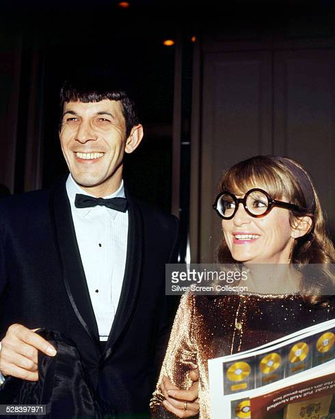 American actor Leonard Nimoy at an event with his wife, actress Sandra Zober , circa 1968.