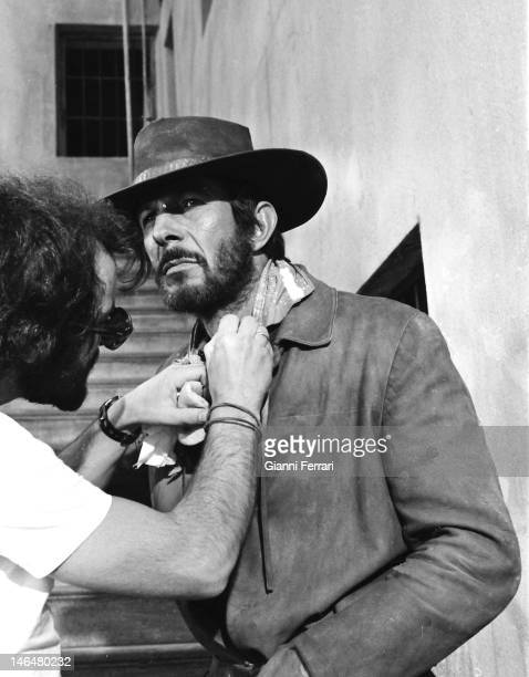 American actor Leonard Nimoy during the filming of the movie 'Catlow',1970 Almeria, Spain. .