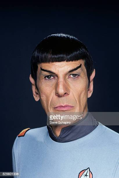 American actor Leonard Nimoy in costume as Mr Spock in a publicity portrait issued for the film 'Star Trek: The Motion Picture' directed by Robert...