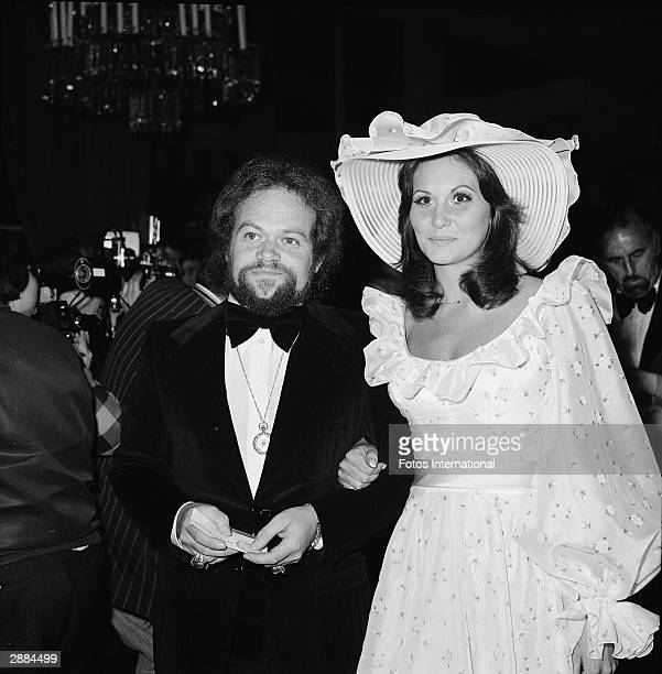 American actor Linda Lovelace and date David Winter attend the Directors Guild Awards at the Beverly Hills Hilton California 1974