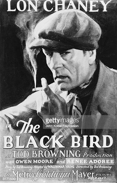 American actor Lon Chaney plays a bishop by day and a criminal mastermind by night in 'The Blackbird' directed by Tod Browning and costarring Owen...
