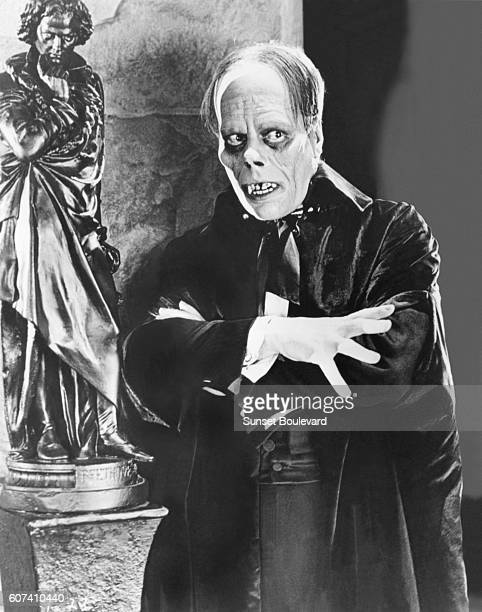American actor Lon Chaney Sr. On the set of The Phantom of the Opera, based on the novel by Gaston Leroux and directed by Rupert Julian.