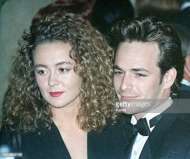 American actor Luke Perry and his wife Rachel Minnie Sharp at the American Friends of The Hebrew University's National Scopus Award Honoring Aaron...