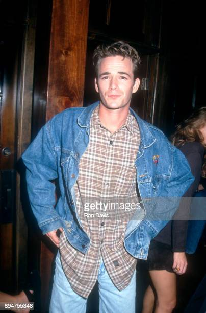 American actor Luke Perry poses for a portrait during the Thunder Roadhouse Opening circa 1994