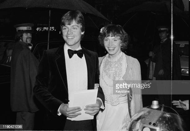 American actor Mark Hamill and his wife Marilou York attend the royal premiere of 'The Empire Strikes Back' at the Odeon Leicester Square, London,...