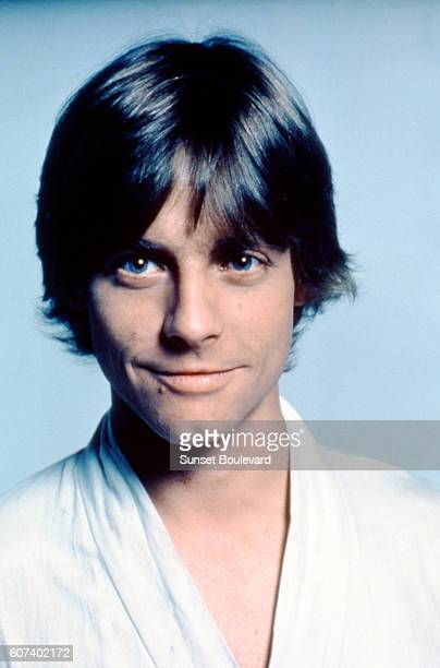 American actor Mark Hamill on the set of Star Wars Episode IV A New Hope written directed and produced by Georges Lucas