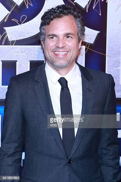 American actor Mark Ruffalo attends 'Now You See Me 2' press conference at Park Hyatt Hotel on June 20 2016 in Beijing China