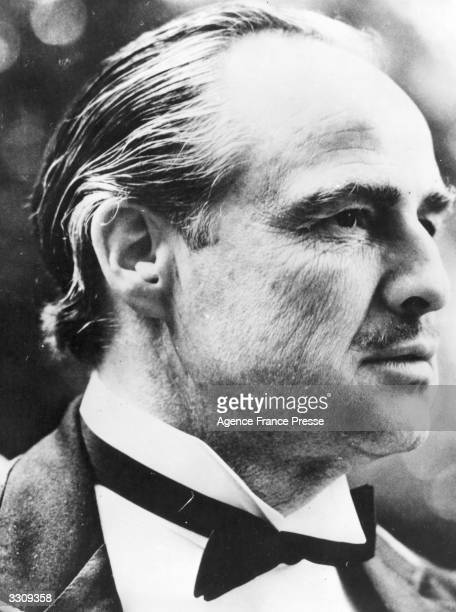 American actor Marlon Brando as Don Corleone in 'The Godfather' directed by Francis Ford Coppola for Paramount