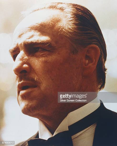 American actor Marlon Brando as Don Vito Corleone in gangster classic 'The Godfather' directed by Francis Ford Coppola 1972