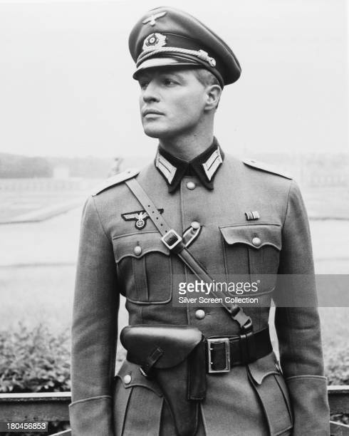 American actor Marlon Brando , as German soldier Christian Diestl, in 'The Young Lions', directed by Edward Dmytryk, 1958.