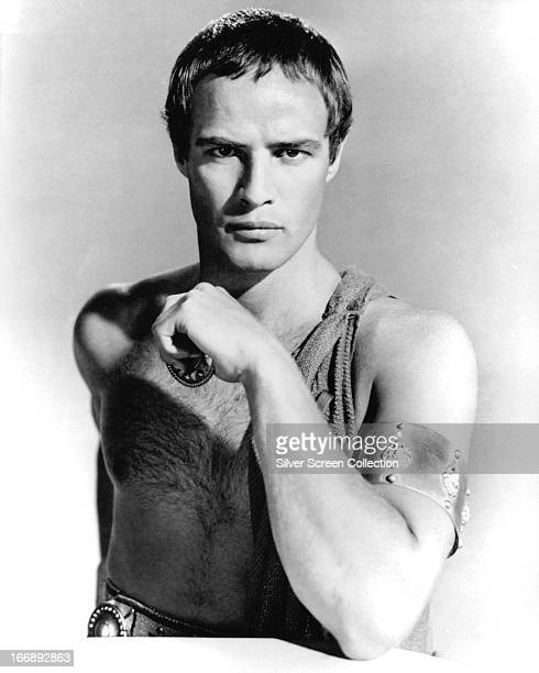 American actor Marlon Brando as Mark Antony in a promotional portrait for 'Julius Caesar' directed by Joseph L Mankiewicz 1953