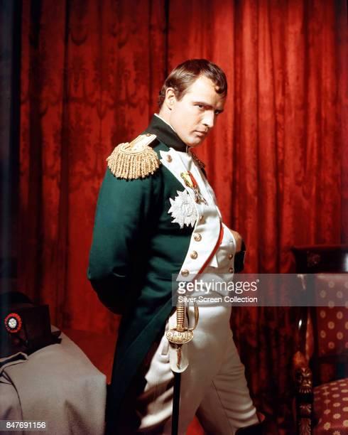 American actor Marlon Brando as Napoleon Bonaparte in the historicalbiographical film 'Désirée' 1954