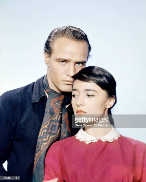 American actor Marlon Brando as Rio and Mexican actress Pina Pellicer as Louisa in a promotional portrait for 'One Eyed Jacks' directed by Brando 1961