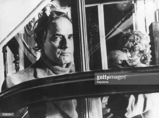 American actor Marlon Brando with actress Marie Schneider in Bernardo Bertolucci's film 'Last Tango In Paris'