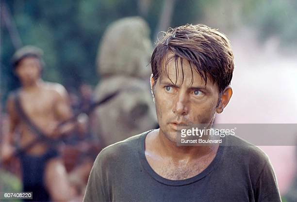 American actor Martin Sheen on the set of the film Apocalypse Now directed by Francis Ford Coppola and based on Joseph Conrad's novel Heart of...