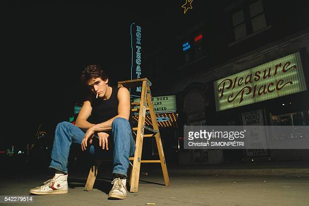 American actor Matt Dillon on the set of Rumble Fish based on the novel by SE Hinton and directed by Francis Ford Coppola