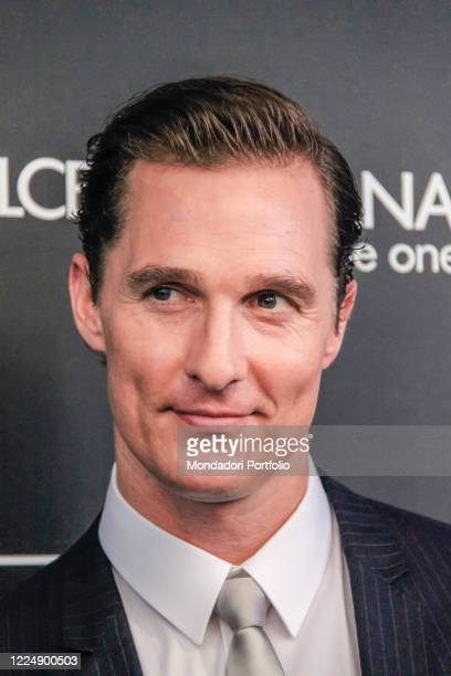 American actor Matthew McConaughey in Rinascente in Piazza Duomo to promote Dolce & Gabbana's The One for Men fragrance. Milan , 18 June 2010