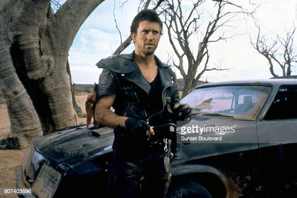 American actor Mel Gibson on the set of Mad Max 2 The Road Warrior written and directed by George Miller