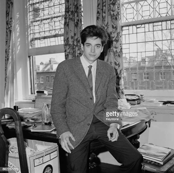 American actor Michael Chaplin the son of Charlie Chaplin and Oona O'Neill at his flat in Hampstead London 9th April 1964