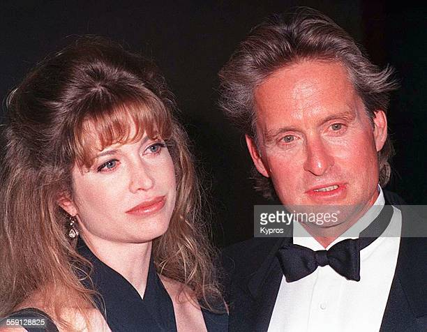American actor Michael Douglas with his wife Diandra at the American Cinematheque's Eighth Annual Moving Picture Ball in Los Angeles, California,...