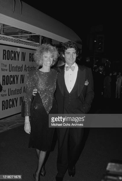 American actor Michael Nouri and his wife Vicki Light at the premiere of the film 'Rocky IV' at the Westwood Village Theatre in Los Angeles,...