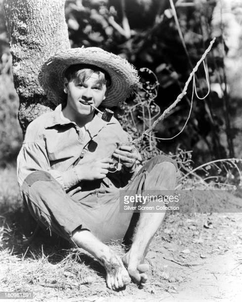 American actor Mickey Rooney as Huckleberry Finn in 'The Adventures of Huckleberry Finn' directed by Richard Thorpe 1939