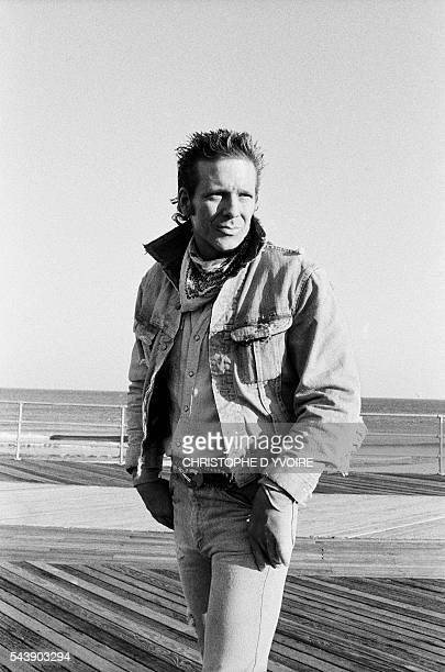 American actor Mickey Rourke in 1987 the year of the films Barfly by Barbet Schroeder Angel Heart by Alan Parker and Homeboy by Michael Seresin